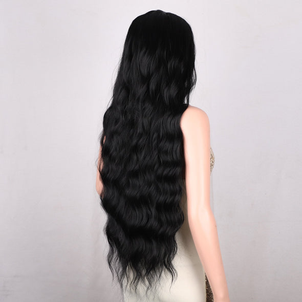 2021 Hot Black Long Curl Mini Lace Front Wigs