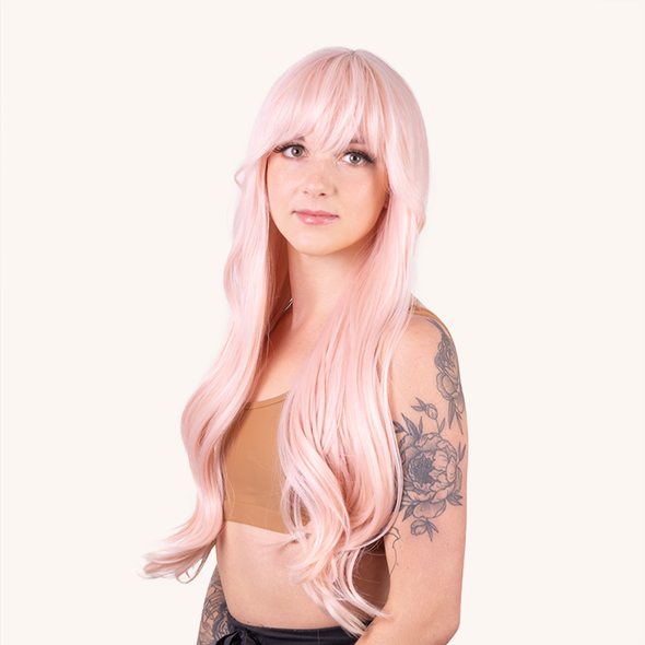 Cindy Light Pink Wigs For Women
