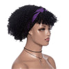 Hot Sexy Kinky Curly Wigs with Purple&Black Headband