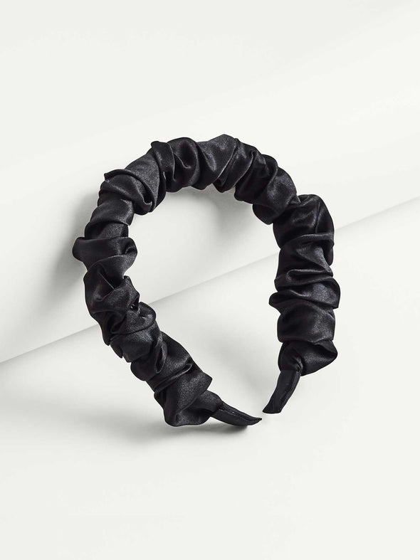 After Dark Ruched Satin Headband