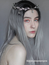 Grey Synthetic Lace Front Wig