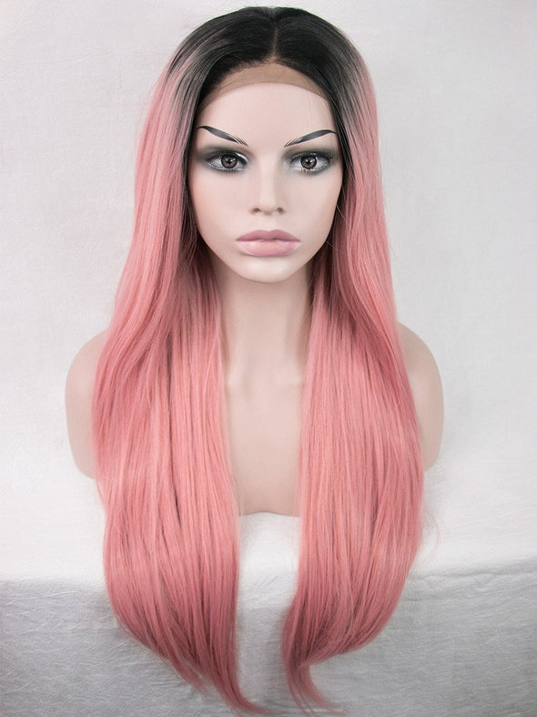 Honey Peach Synthetic Lace Front Wig