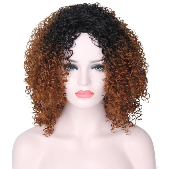 Synthetic Curly Short Brown Wig for Women