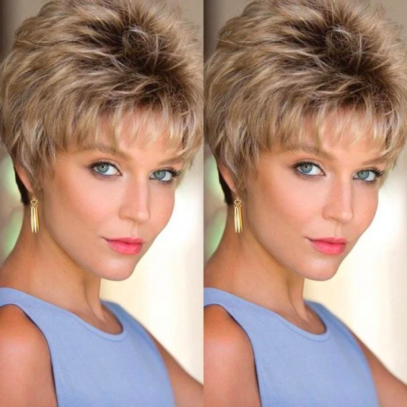 2020 New Charming Gold Short Wig