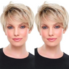 2020 New Gradient Gold Short Wig