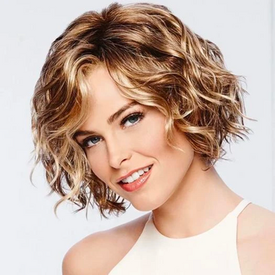 2020 New Hot Brown Golden Bob Short Wig