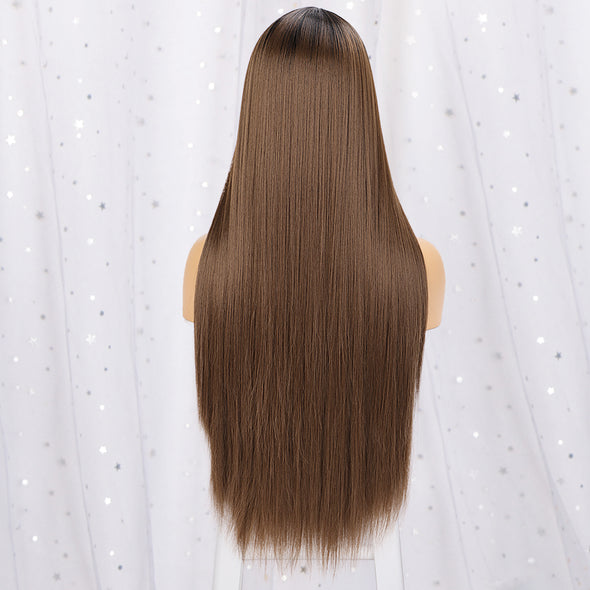 Hot Brazilian Long Straight Hair Mini Lace Front Wigs