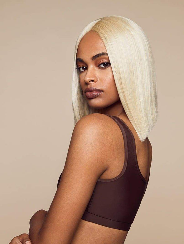 Kenny Short Platinum Lace Front Wigs For Women