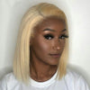 Straight Blonde Bob Lace Front Human Hair Wigs