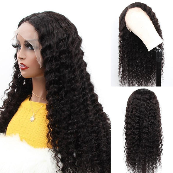 Deep Wave Lace Front  Human Hair Wigs