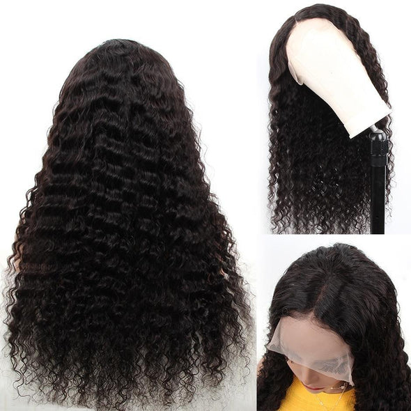 Malaysian Deep Wave Lace Front Human Hair Wigs