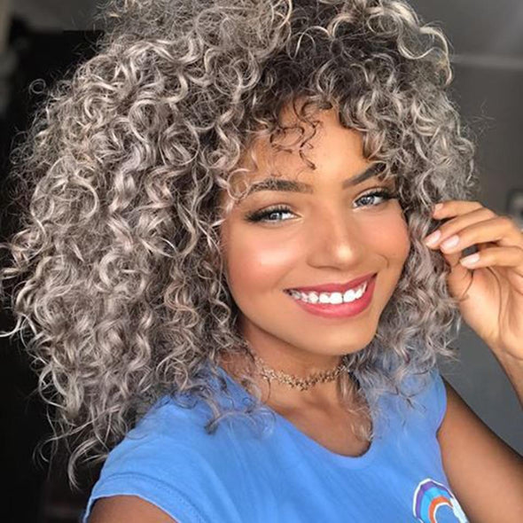 14inches Mixed Color Curly Hot Wigs