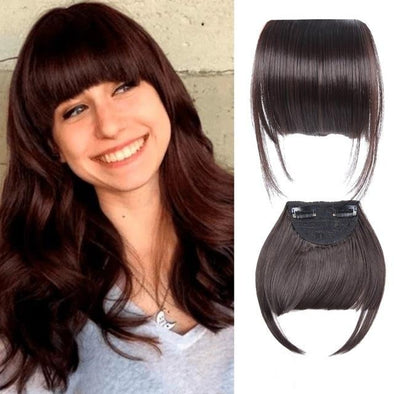 3D Clip-In Bangs Hair Extensions Wig