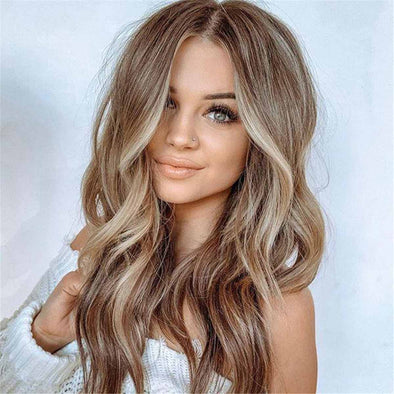 Long Wavy Brown Blonde Hairstyle Hot Wig