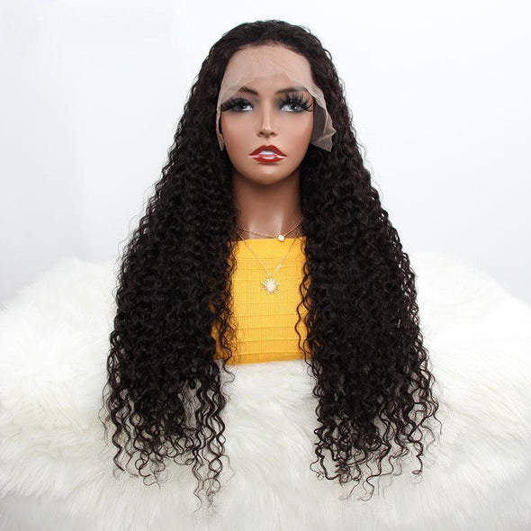 180% Density Water Wave Lace Front Human Hair Wigs