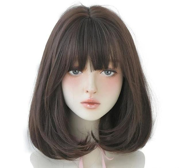 Halloween Pink Short Straight Bob Wig