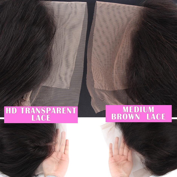 180% Density Water Wave HD Transparent Lace Front Human Hair Wigs