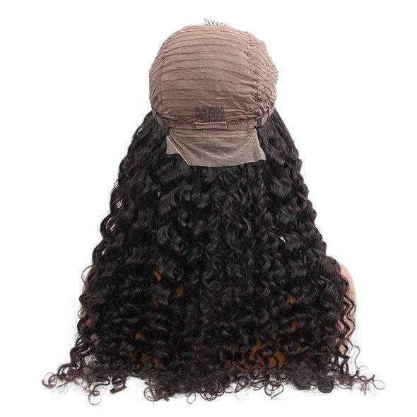 Water Wave 4x4 Lace Front Human Hair Wigs