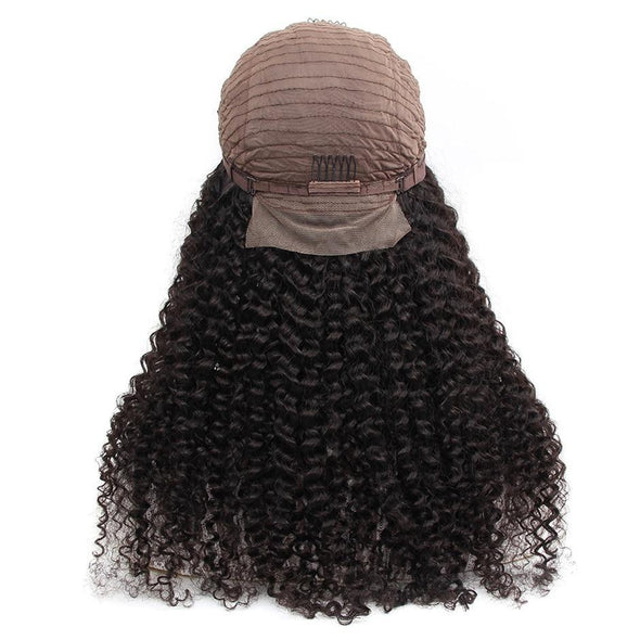 45CM Kinky Curly Lace Front Human Hair Wigs