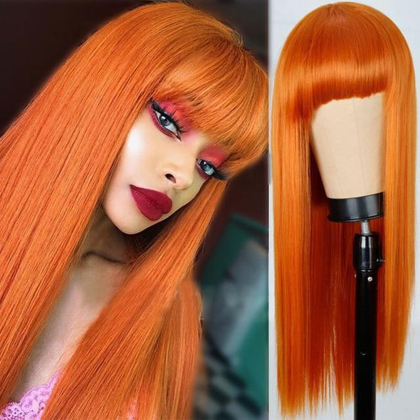 Halloween Pink Long Straight Wig