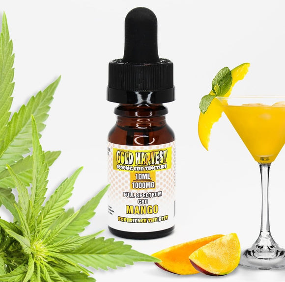 Gold Harvest 500mg CBD Tincture 10ml Full Spectrum CBD - Hemp Oil Online Store