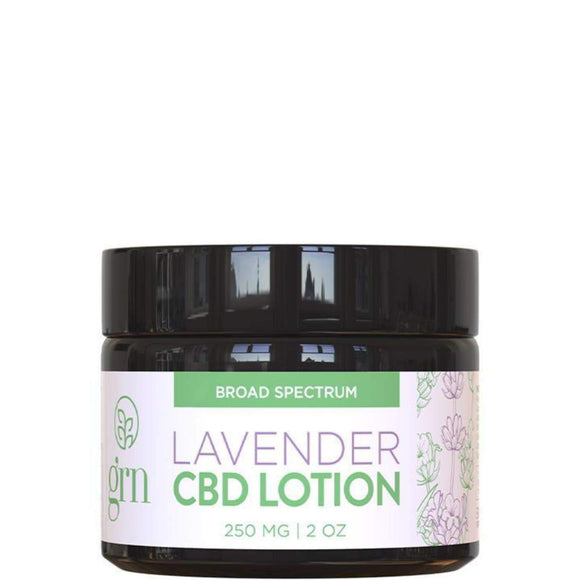 Lavender CBD Infused Lotion 2oz 250mg CBD by GRN CBD