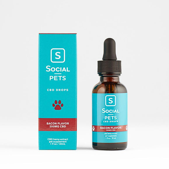 PETS BACON BROAD SPECTRUM CBD DROPS BY SOCIAL CBD | 30 ML CBD HEMP EXTRACT FOR PETS - CBD Oil Online Store | Shop CBD Oil, Gummies, Balm, Capsules, Disposable, CBD For Pets, CBD Lotion, CBD Vape Devices & Cartridges,  CBD Tinctures and Spray