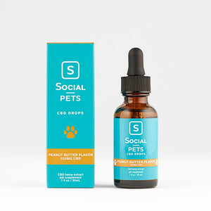 PETS PEANUT BUTTER BROAD SPECTRUM CBD DROPS BY SOCIAL CBD | 30 ML CBD HEMP EXTRACT FOR PETS - CBD Oil Online Store | Shop CBD Oil, Gummies, Balm, Capsules, Disposable, CBD For Pets, CBD Lotion, CBD Vape Devices & Cartridges,  CBD Tinctures and Spray