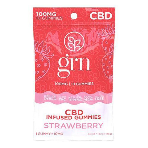 STRAWBERRY BY GRN CBD | 100MG CBD GUMMIES - CBD Oil Online Store | Shop CBD Oil, Gummies, Balm, Capsules, Disposable, CBD For Pets, CBD Lotion, CBD Vape Devices & Cartridges,  CBD Tinctures and Spray