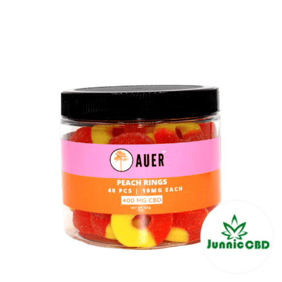 Auer Peach Rings Gummy Jar 400Mg Cbd By Gummies