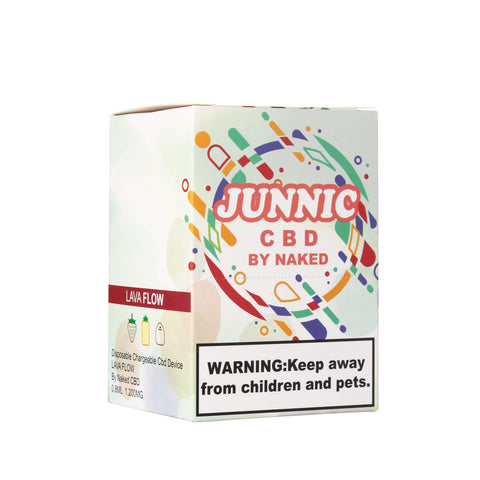 LAVA FLOW DISPOSABLE CBD DEVICE BY JUNNIC CBD | BOX OF 12 | 37 MG | 0.8 ML CBD Disposable JUNNIC