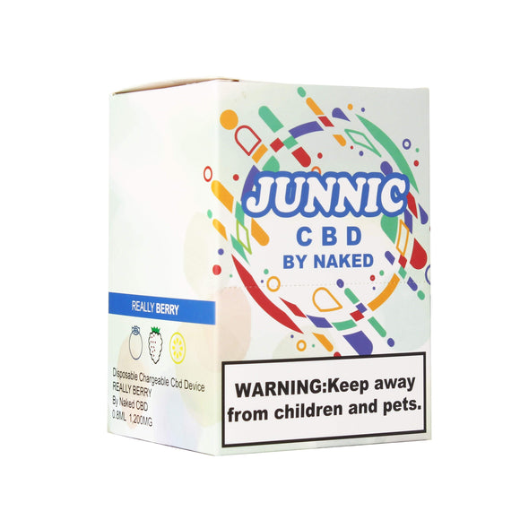 REALLY BERRY DISPOSABLE CBD DEVICE BY JUNNIC CBD | BOX OF 12 | 37 MG | 0.8 ML CBD Disposable JUNNIC