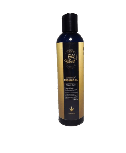 Good Night Body Massage Oil by Gold Harvest CBD