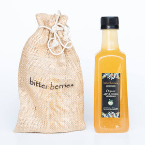 Organic Apple Cider Vinegar comes in Jute Bag Outer packing