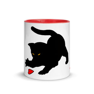 Kitty Cat Mug with Color Inside