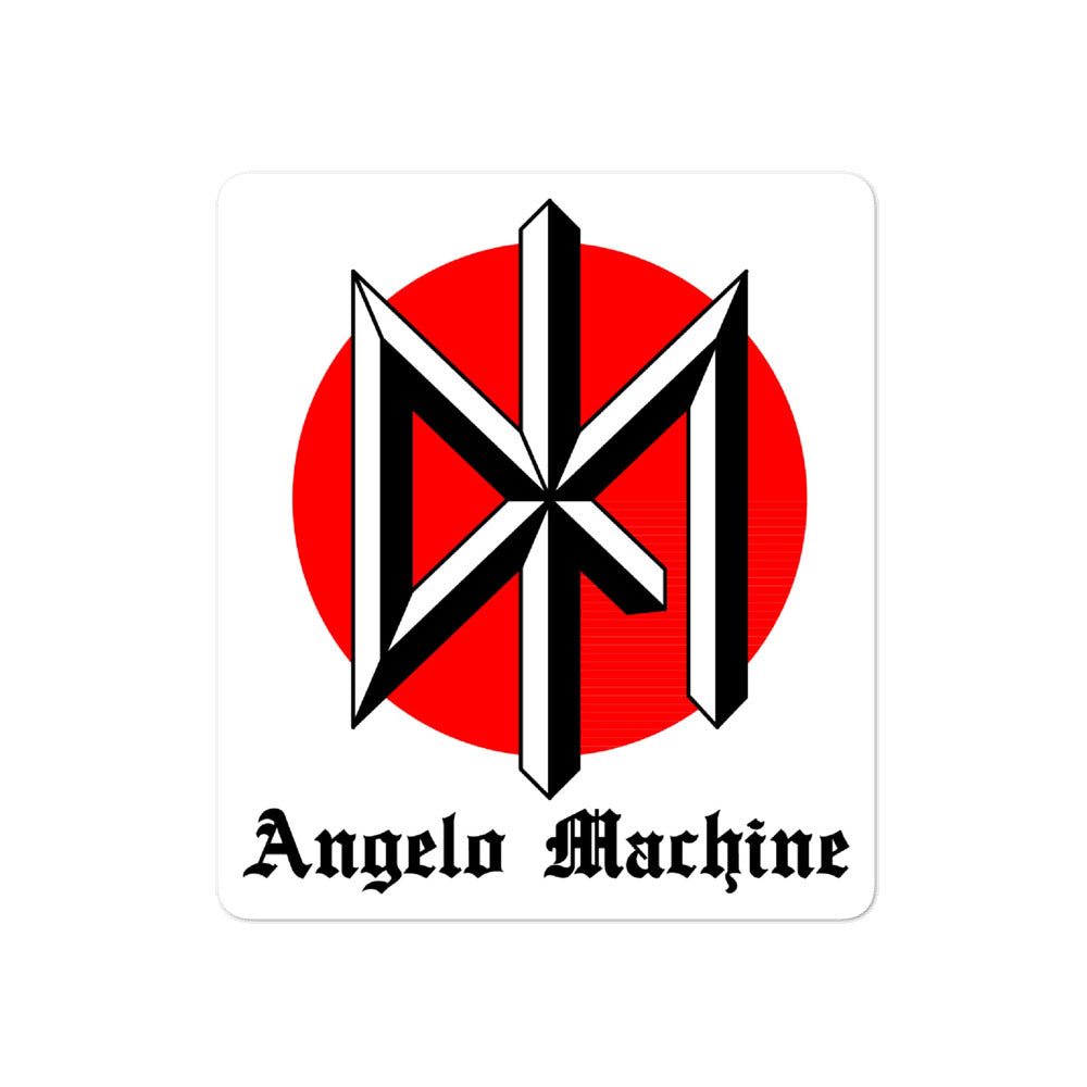 DK Angelo machine logo sticker