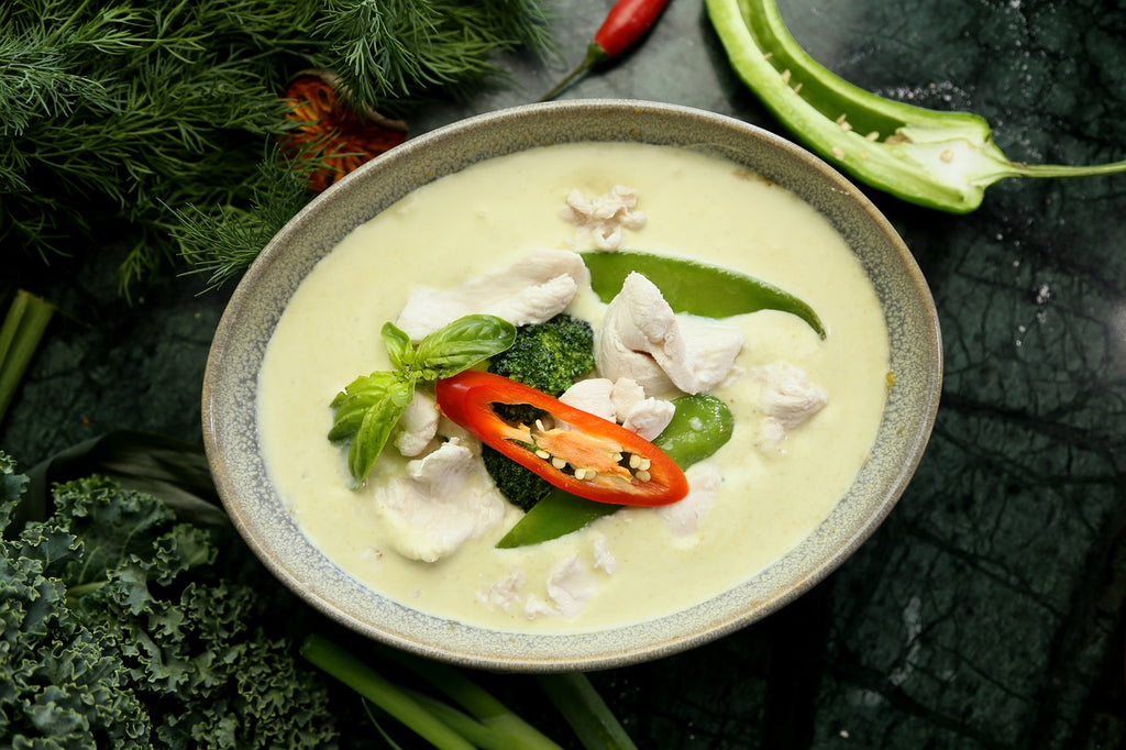 Chicken Bone Broth Green Curry