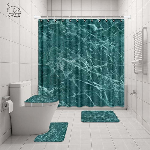 Marbled 4 Piece Bathroom Set - Lavish Latrine