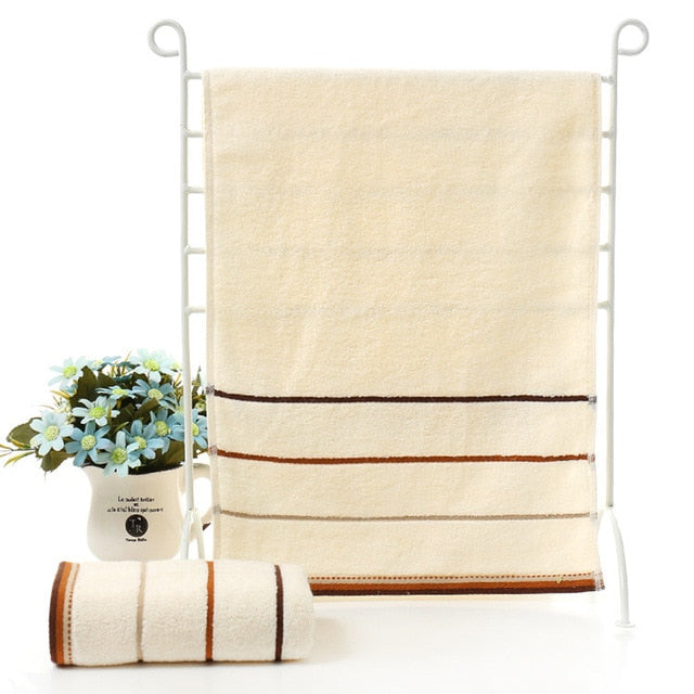 Striped Cotton Bathroom Towel - Lavish Latrine