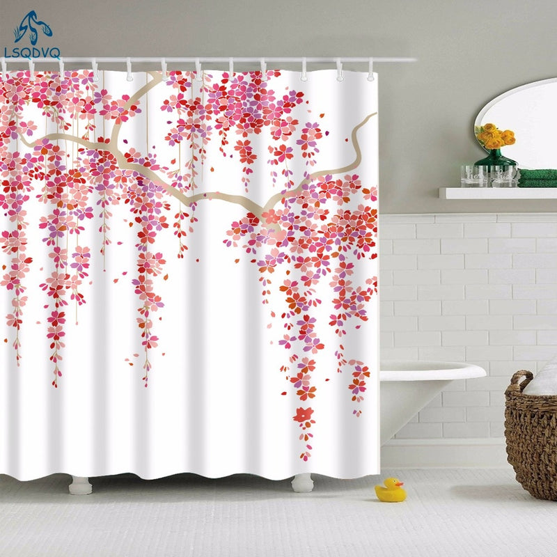 Floral Shower Curtain - Lavish Latrine