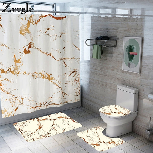 Marble Design Bathroom Mat - Lavish Latrine