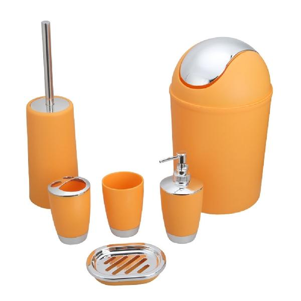 Color Plastic Bathroom Accessory Set - Lavish Latrine