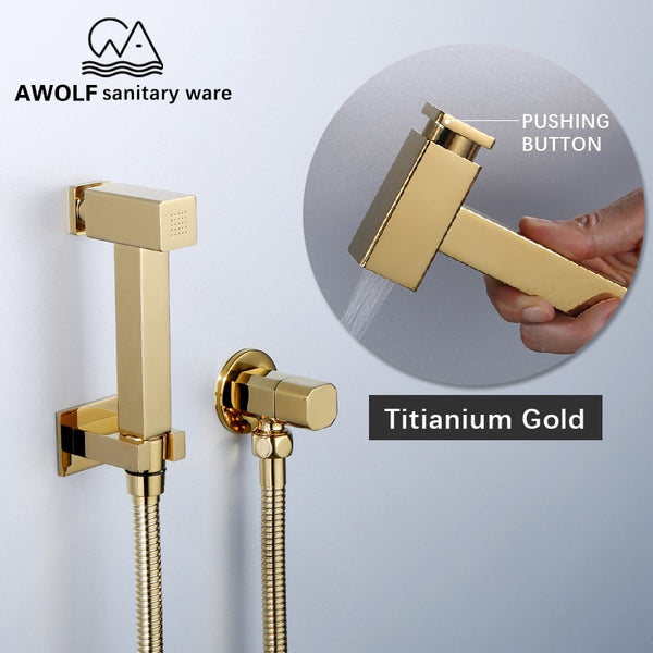 Titianium Gold Hand Held Bidet Sprayer - Lavish Latrine