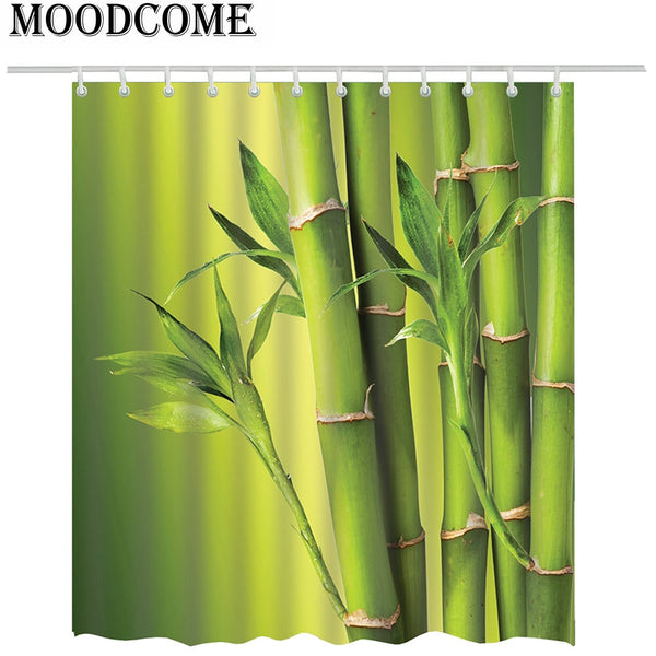Bamboo Green Plants Shower Curtain - Lavish Latrine