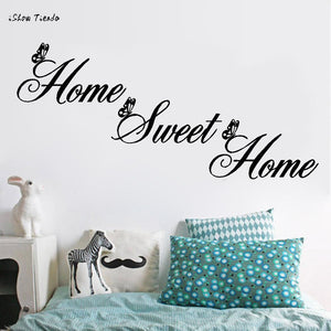Writing Home Decor Wall Stickers DIY Removable Art Vinyl Wall Sticker Home Sweet Home Wall Poster Wall Decor