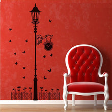 Load image into Gallery viewer, New Hot Naughty butterfly and Street light Lamp Post Wall Stickers home decoration School Room Kindergarten Wall Sticker @026