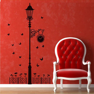 New Hot Naughty butterfly and Street light Lamp Post Wall Stickers home decoration School Room Kindergarten Wall Sticker @026