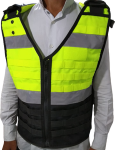 1 X Load Bearing Vest M-100  Hi Vis Yellow Version1