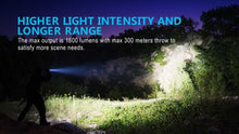 Load image into Gallery viewer, M2R Pro 1800 lumen rechargeable tactical LED torch