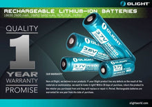 Load image into Gallery viewer, Olight 2600mAh 18650 protected Li-ion rechargeable battery ORB-186P26